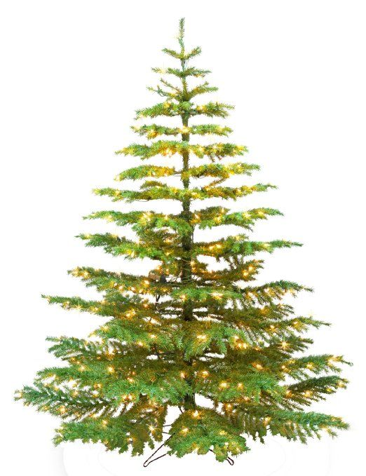Amazon.com - Barcana 9-Foot Noble Fir Ready Trim Christmas Tree with ...