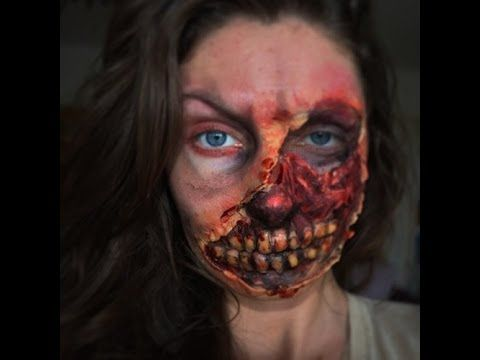 Halloween Zombie Special Effects Makeup Facepaint - YouTube ...