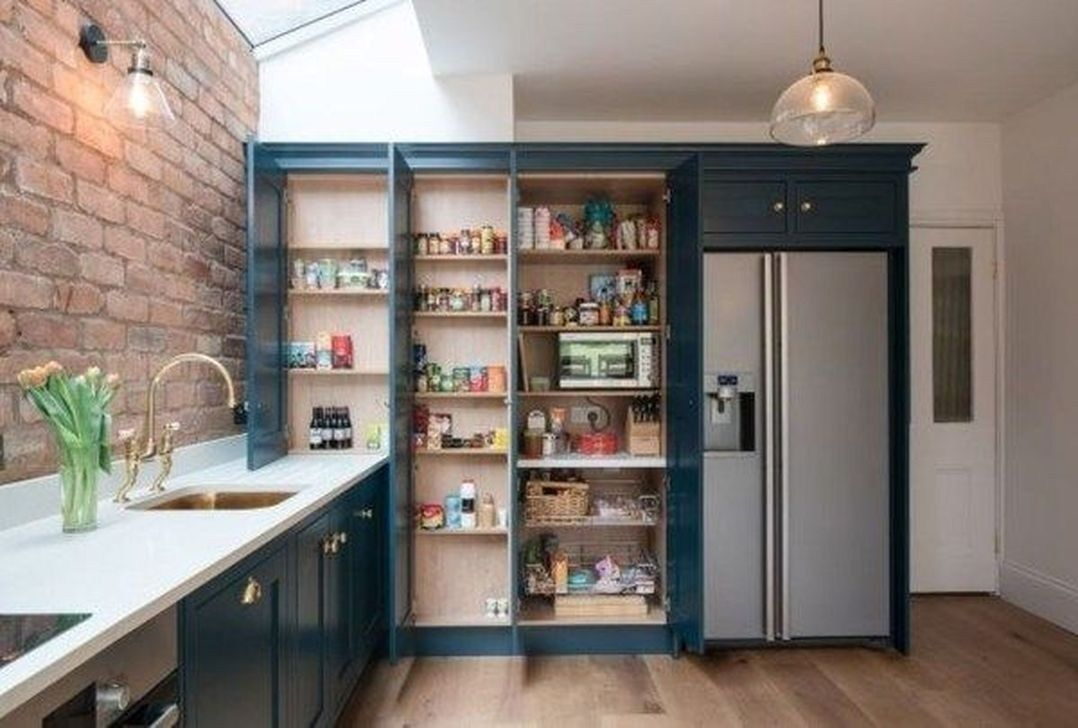 36 beautiful farmhouse cabinets ideas for kitchen with images kitchen wall storage interior on farmhouse kitchen no upper cabinets id=32698