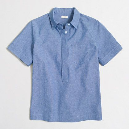 bc2630aecd J.Crew+Factory+-+Factory+short-sleeve+chambray+popover+shirt+in+boy+ ...