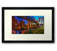 Night Time Reflections at the Art Gallery - Bendigo Framed Print