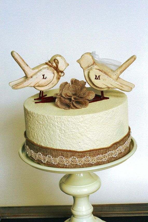 Love Birds Cake Topper / Wooden Cake Topper / by hawthornehill, $17.00