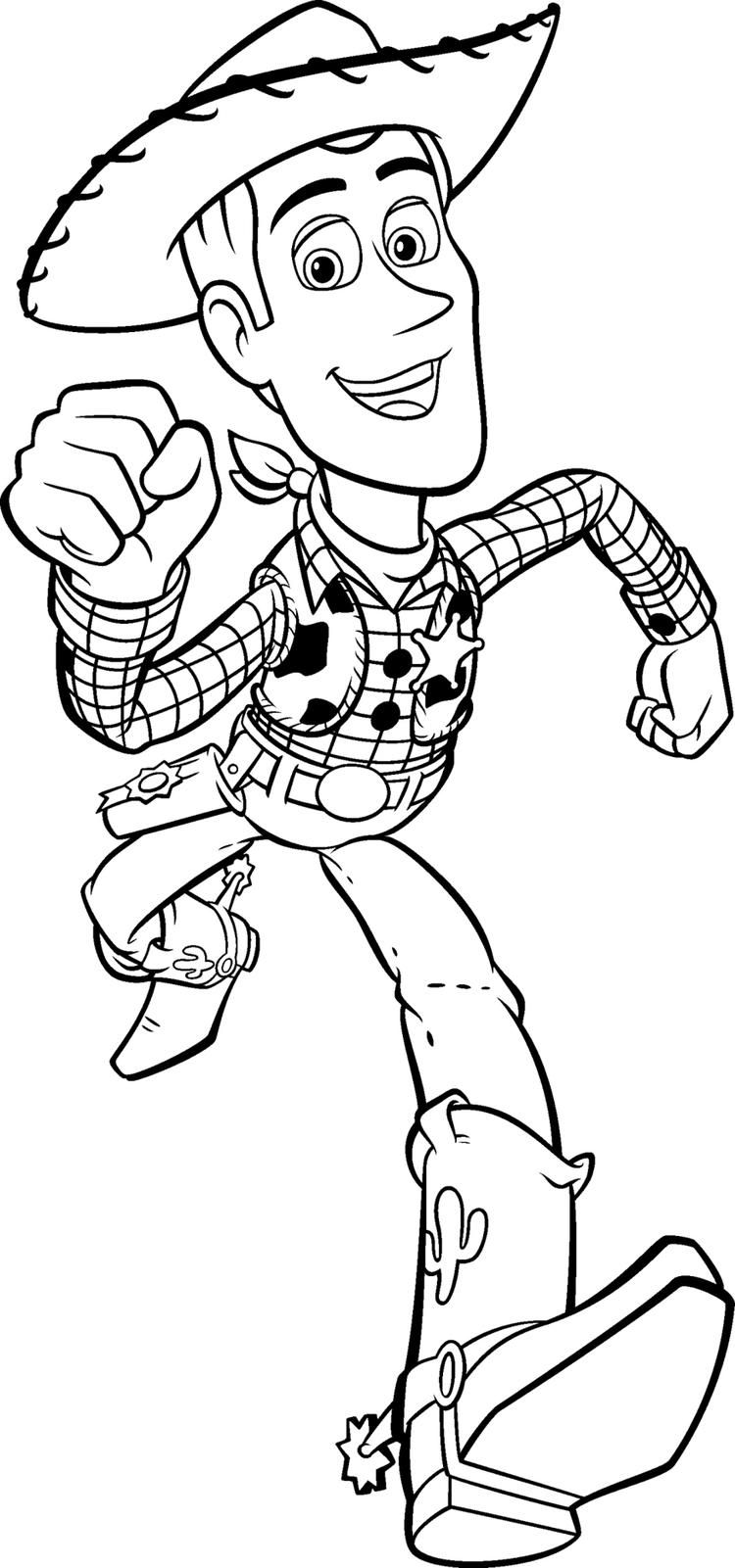 Read Moretoy Story Coloring Pages Woody Running Cartoon Coloring