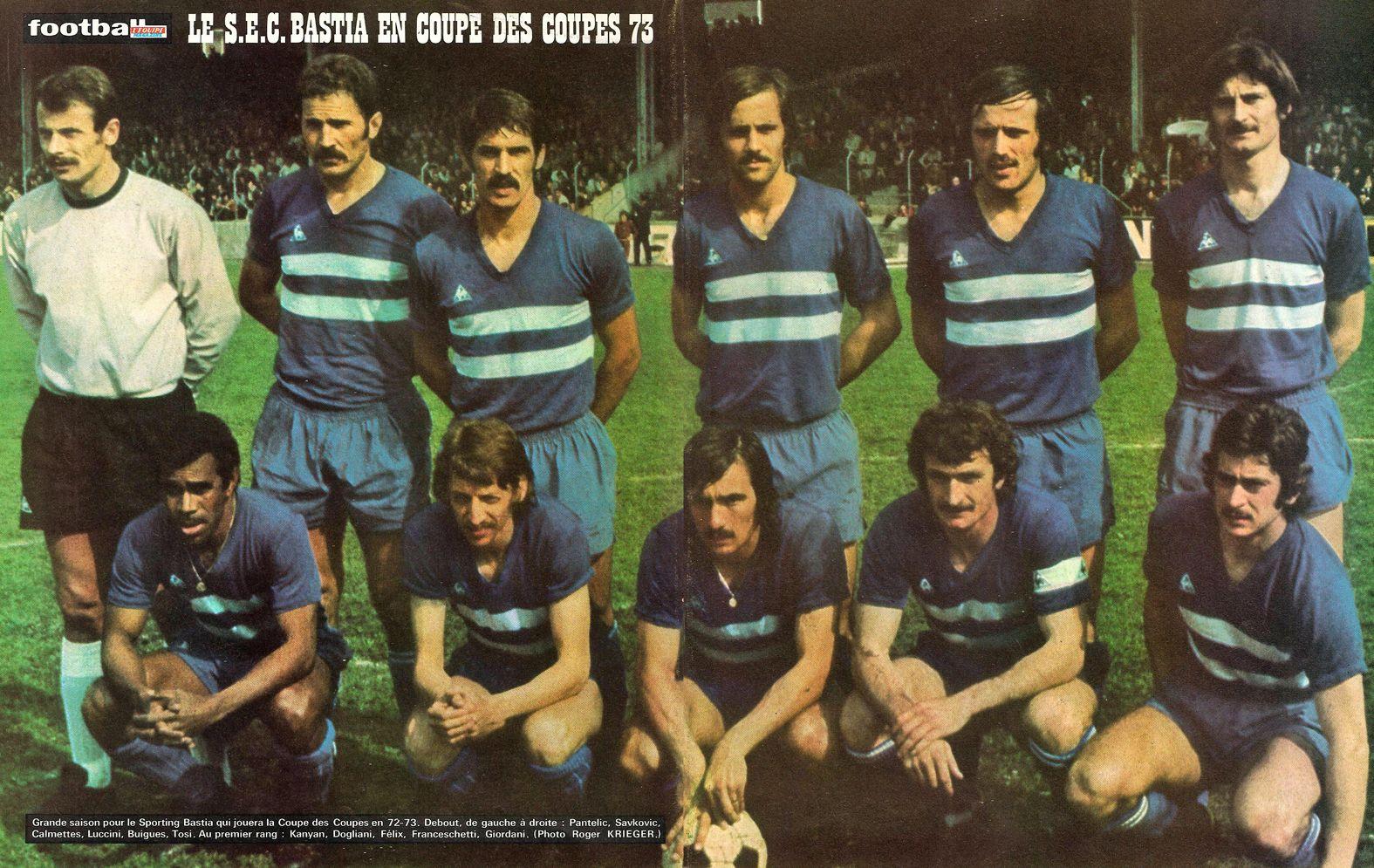 SPORTING ETOILE CLUB de BASTIA 197172 en 2020 Bastia