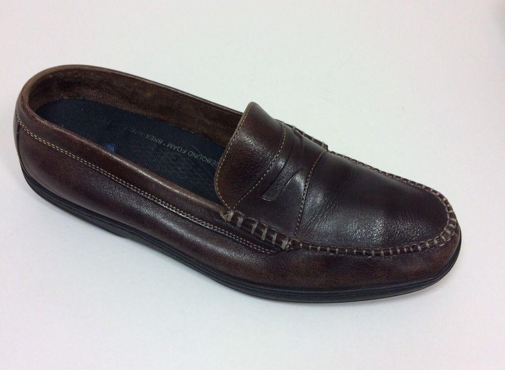 f67e96e023de Cole Haan Penny Loafers Shoes Men s Sz 9.5 D Brown Leather Cool Max ...