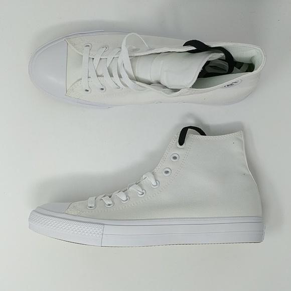 085692da6a0467 Converse Chuck Taylor All Star II High Top White White Men s Shoes 150 –  LoneSole