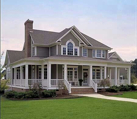 colonial with front porch - Google Search   The Foyer & Entry ...