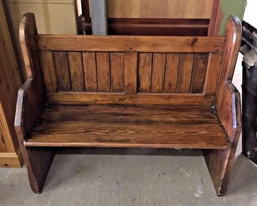 Groovy Solid Original Style Church Pew Authentic Bench Deep Andrewgaddart Wooden Chair Designs For Living Room Andrewgaddartcom