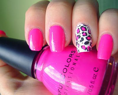 Konad Addict Pink Leopard Nails Why Couldn T You Use Stazon Ink Or Versamark In Black And Use One Of Your Rubber Pink Leopard Nails Leopard Nails Trendy Nails