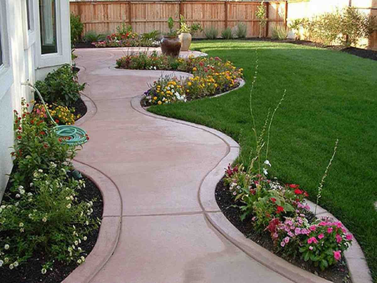 front yard landscaping ideas on a budget small backyard on best large backyard ideas with attractive fire pit on a budget id=73039