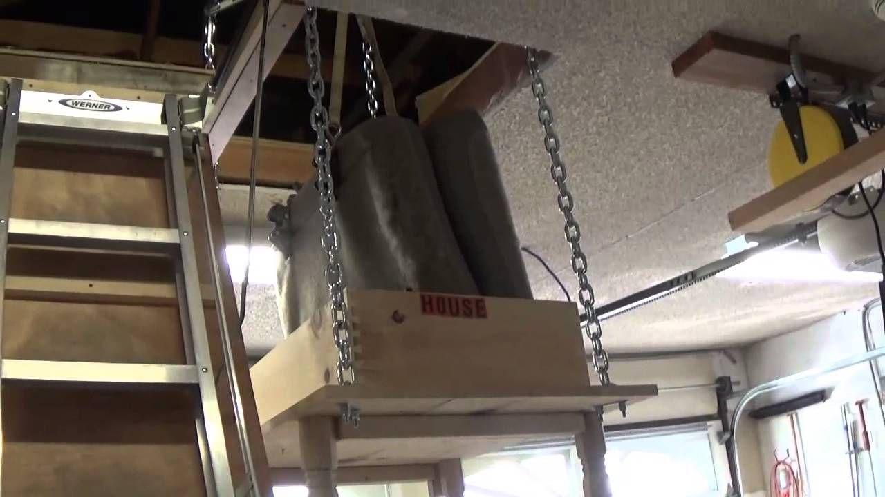 Garage attic storage lift with images attic storage