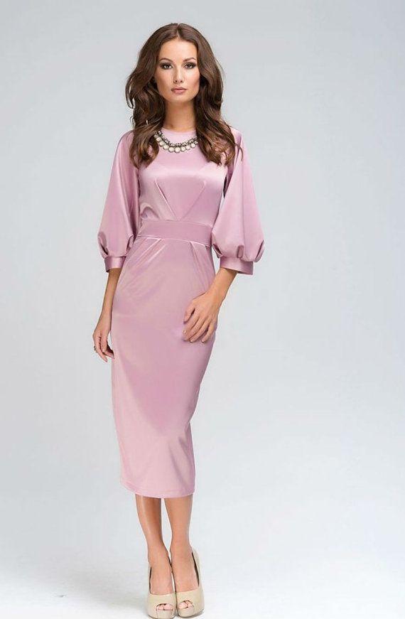 Chicago-Chic Pink Dress,Evening MIDI Dress Formal | Pinterest | Mi ...