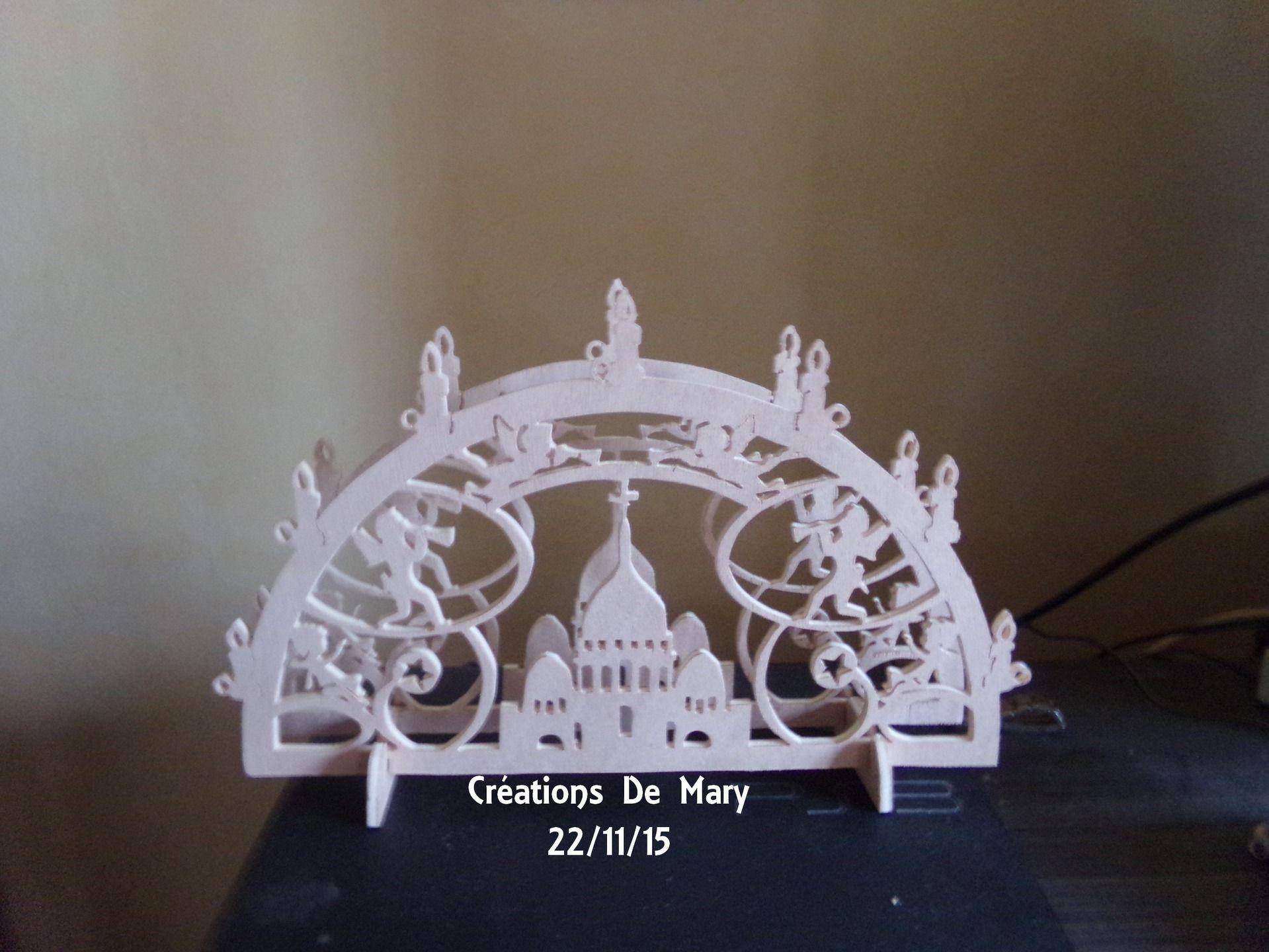 Arche De Noel En Chantournage Accessoires De Maison Par Crea Marylene Noel Chantournage Cadeaux Faits Main