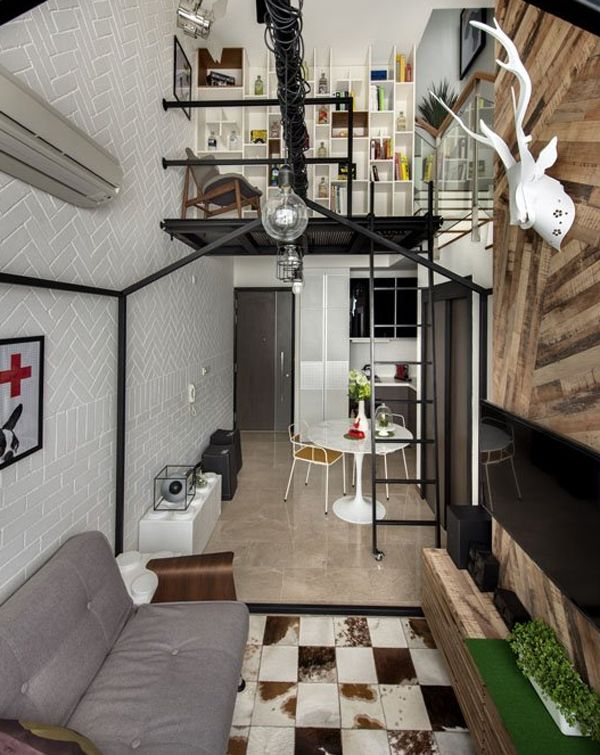Loft Design Ideas Small Room Part - 30: Small Loft House With Aesthetics Modern Home Interior