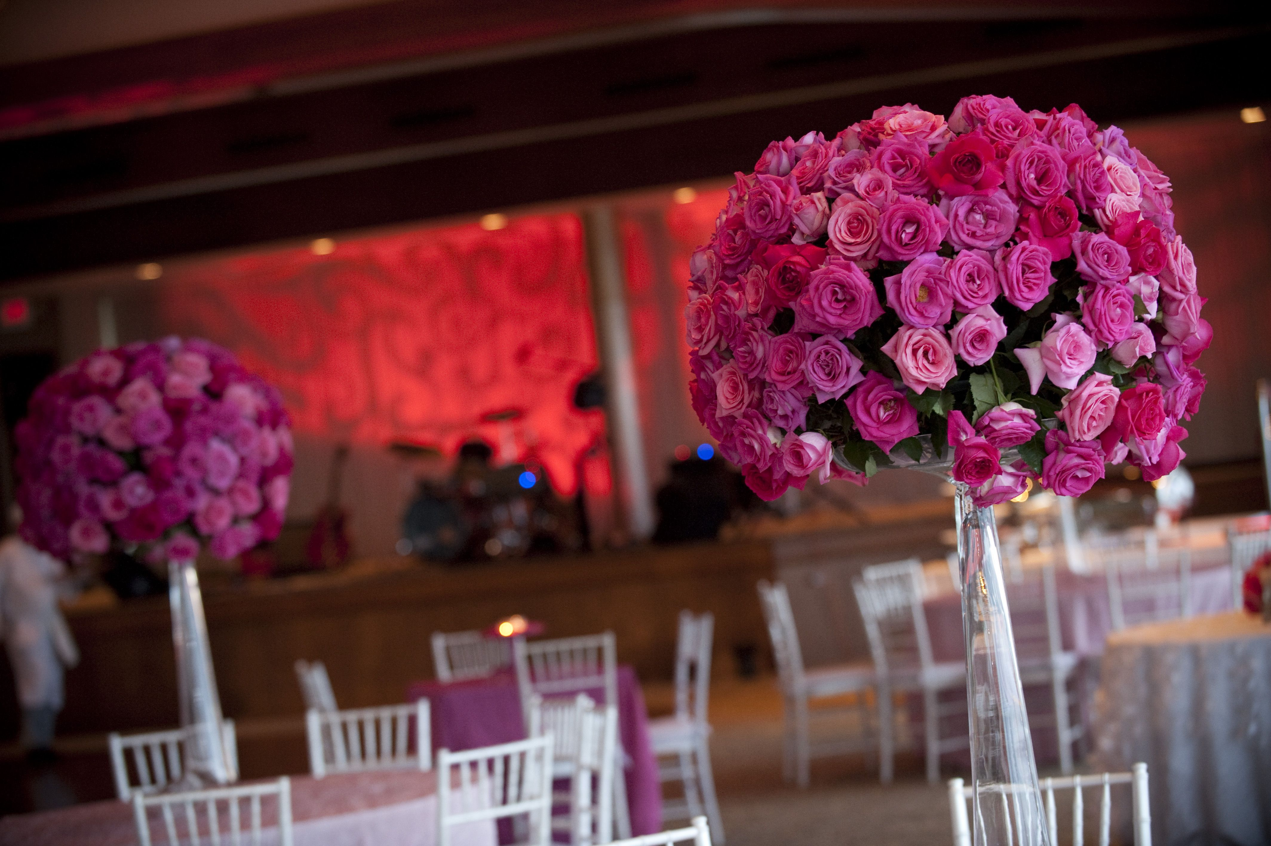 We Love These Tall Pink Flower Centerpieces Such A Stunning Look