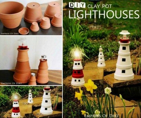 Clay pot lighthouse garden diy craft crafts diy crafts do it clay pot lighthouse garden diy craft crafts diy crafts do it yourself diy projects diy gardening solutioingenieria Images