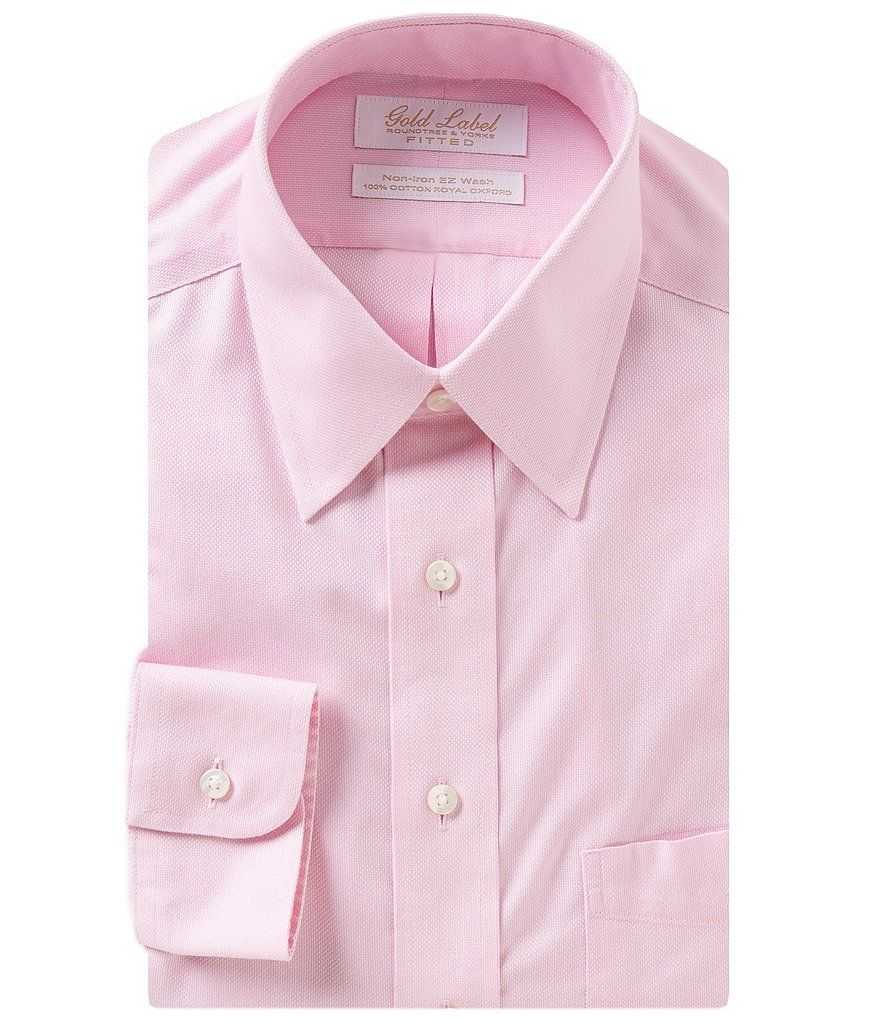 Pinkgold Label Roundtree Yorke Non Iron Fitted Classic Fit Point