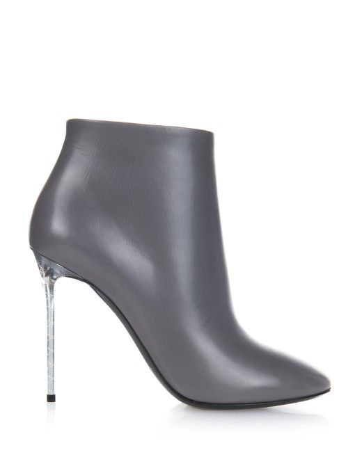Balenciaga Ankle Mode George Leather Heel Plexi V Boots 4nxR4qv8w