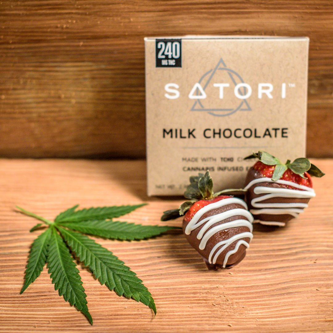 Cannabis Infused Satori Chocolate Covered Strawberries