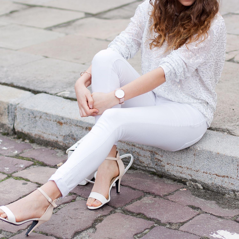 Bluzka Z Odkrytymi Plecami White Total Look White Jeans Fashion White