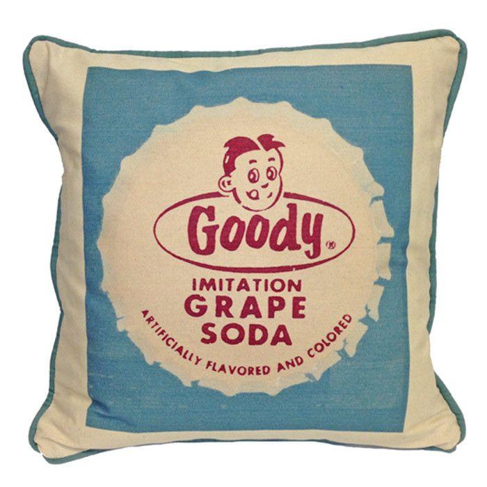 Goody Grape Soda Pillow