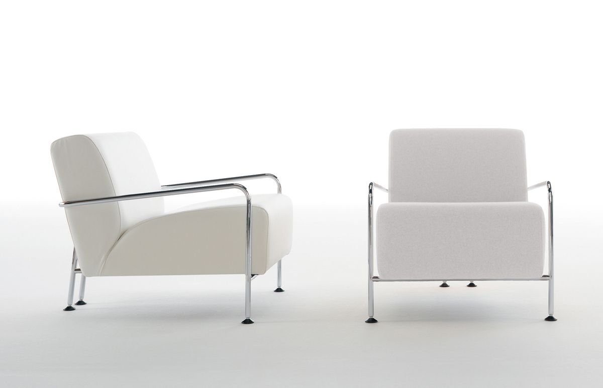 viccarbe for reception chairs in white leather code 179 with