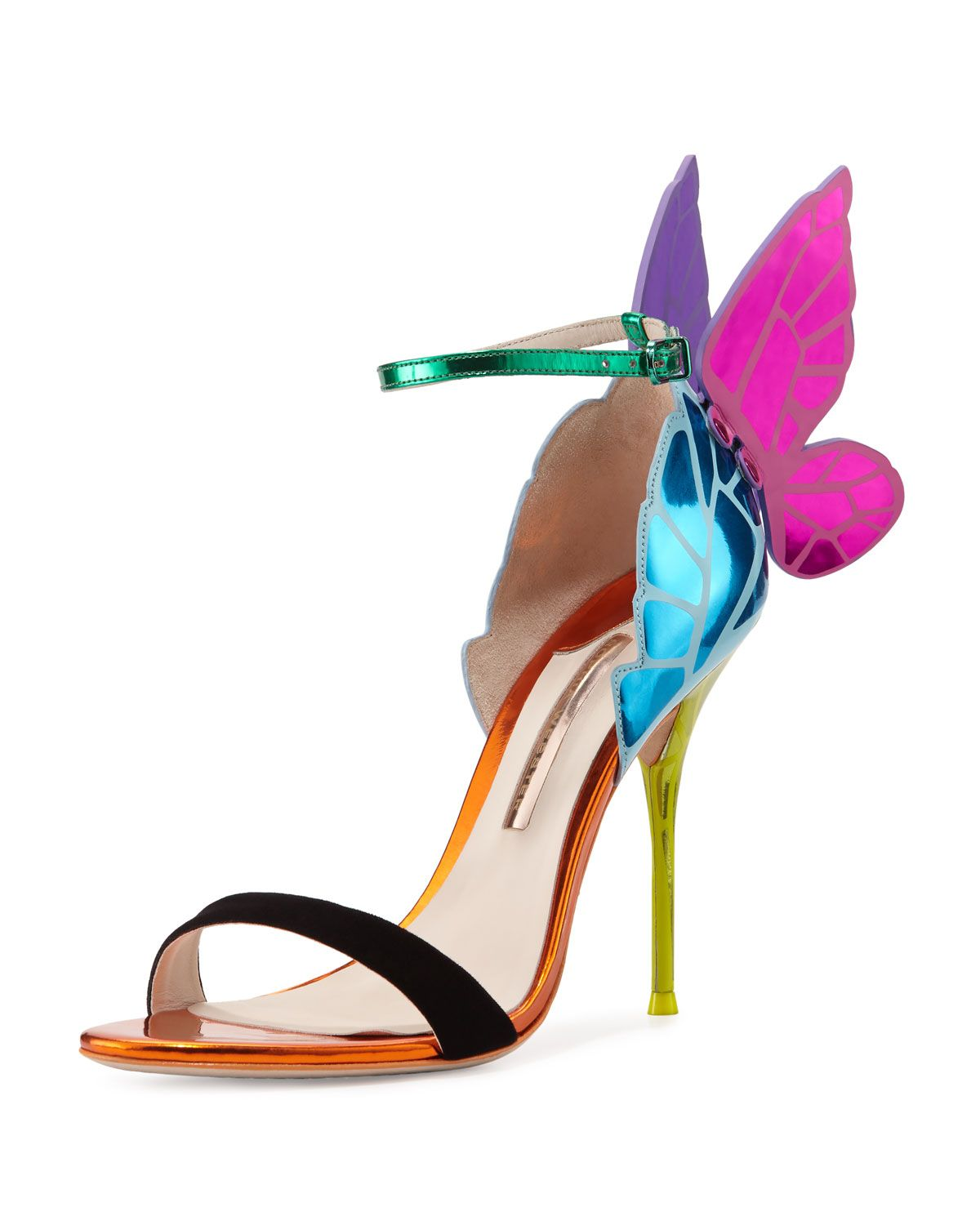 7ab255208c14 Sophia Webster Chiara Butterfly Wing Ankle-Wrap Sandal Ankle Wrap Sandals