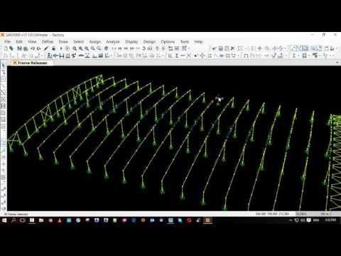 factory design with csi sap2000 part 02 | sap2000 | Factory design