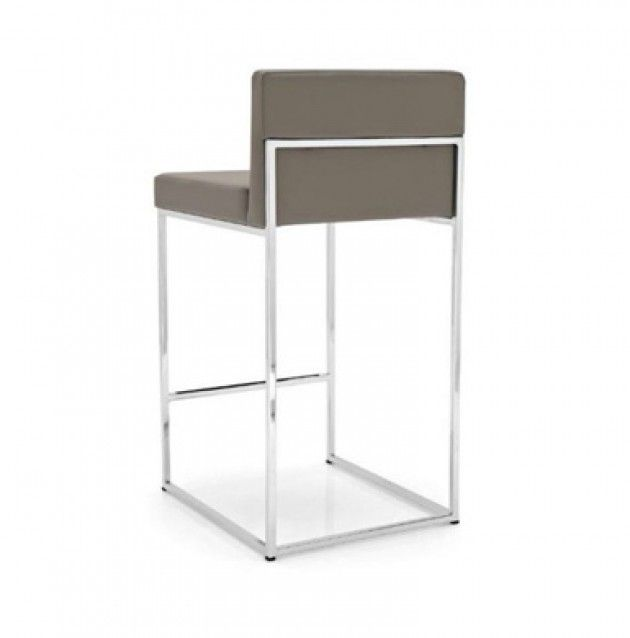 Even Plus Counter Stool: Even Plus Counter Stool By Calligaris. Chrome  Frame And Leather