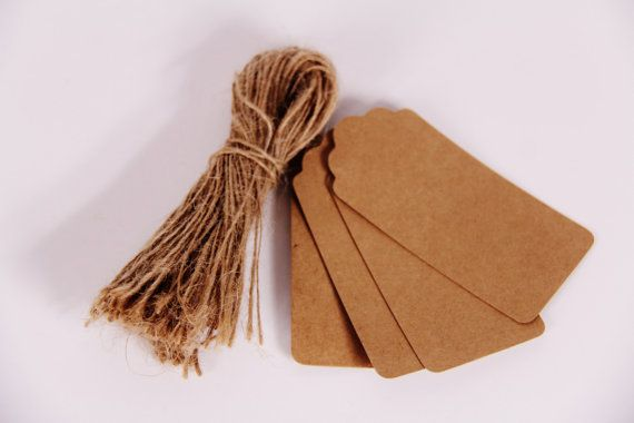 10 Brown Paper Tags with Twine Ties Rustic by thelittlebundle, $2.50