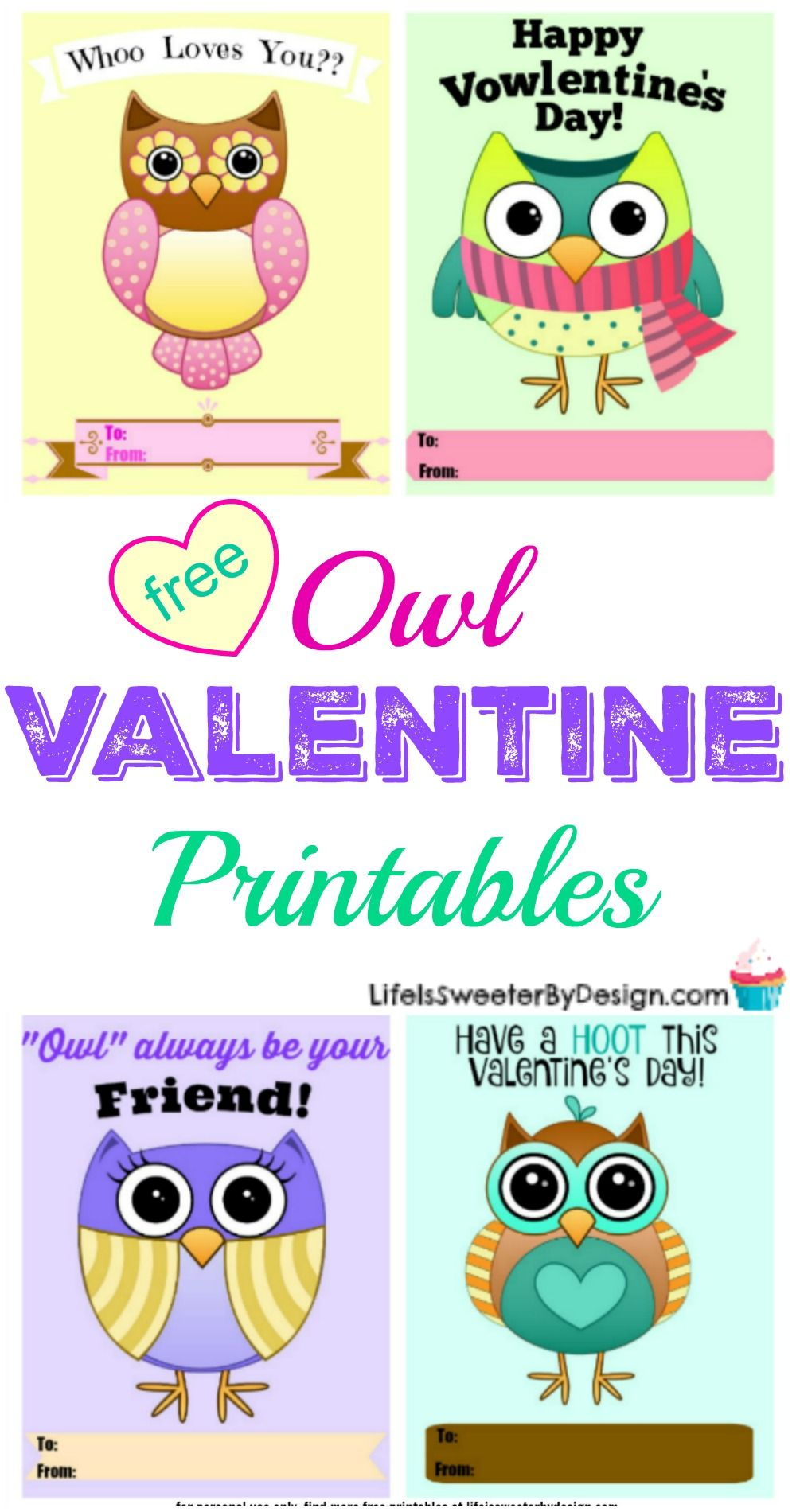A Free Printable Valentine That Your Child Will Love Whoo Loves You Freeprintable Valentines Printablevalentines Owls