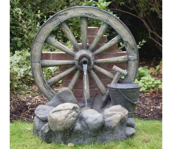 Cartwheel On Wall Fountain Water Feature Gartenstrukturen