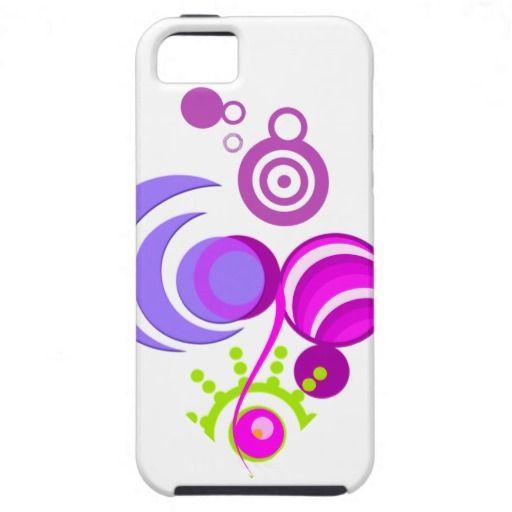 Funda iiPhone 5.Circulos fresh lila Promodecor iPhone 5 Coberturas