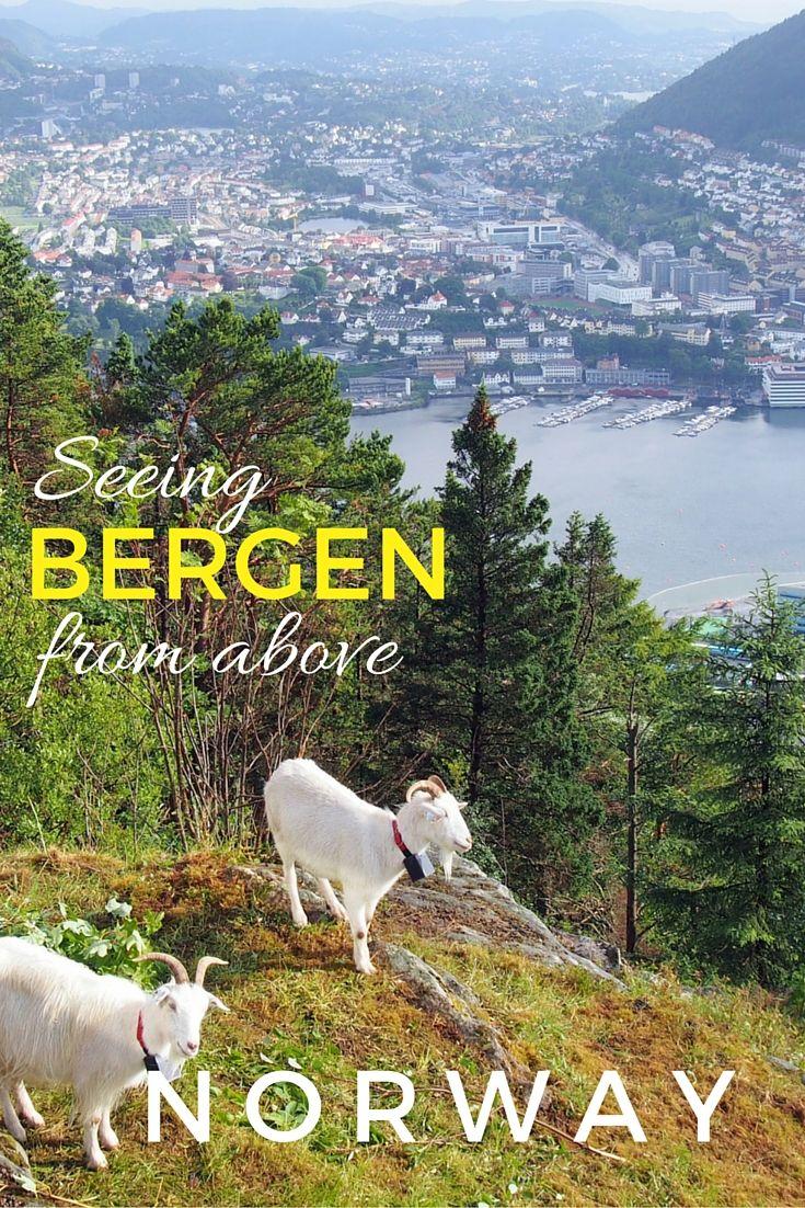 Bergen Norway from above