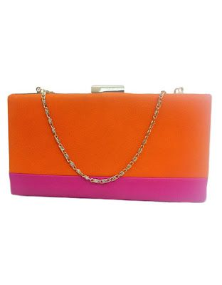 d0d1677e3 Orange and Pink Clutch | Shoes and Bags | Pink clutch, Pink y Orange ...