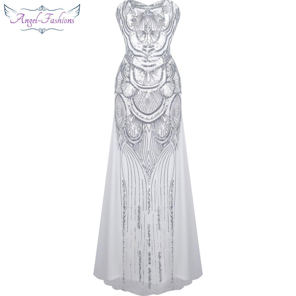 Angelfashions vintage us strapless lovertjes tulle prom dresses