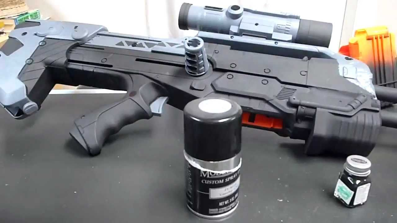 How To: Make A Halo Battle Rifle BR55 (Working Replica) - YouTube