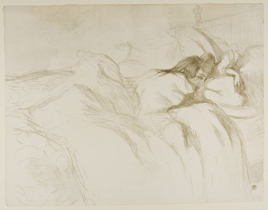 From The Harvard Art Museums Collections Woman In Bed Waking Henri De Toulouse Lautrec Toulouse Lautrec Van Gogh Museum