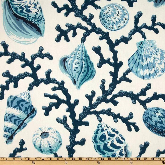 P Kaufmann Sea Shell Branch Pacific Discount Designer Fabric Fabric Com