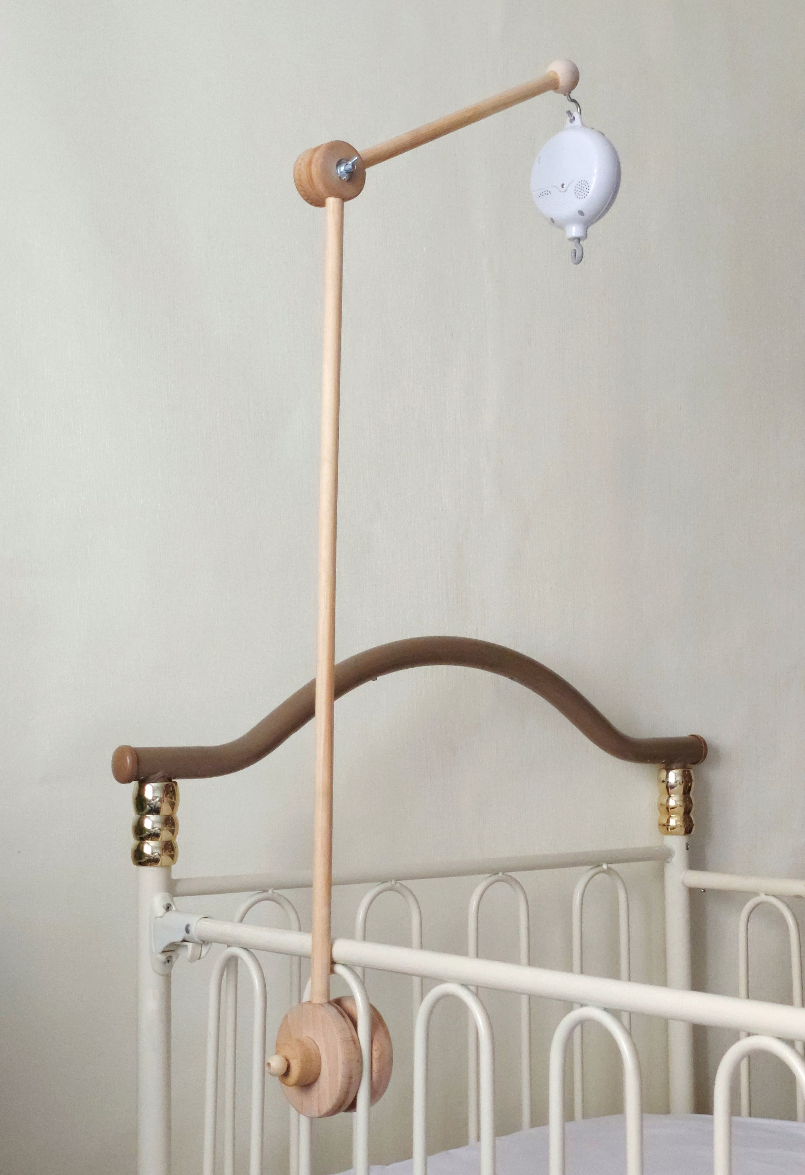Crib Mobile Wood Arm Wooden Mount For Mobile Hanging Electronic Music Box With 35 Melodies For Baby Crib Mobile In 2020 Wood Arms Cot Mobile Crib Mobile