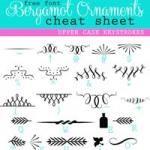 Font Cheat Sheets:  Bergamot Ornaments Character Map