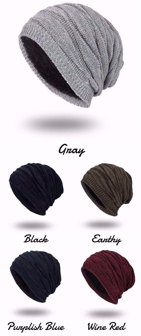 Piled Velvet Lining Knitted Beanie   Ideas de moda, Inteligente ...
