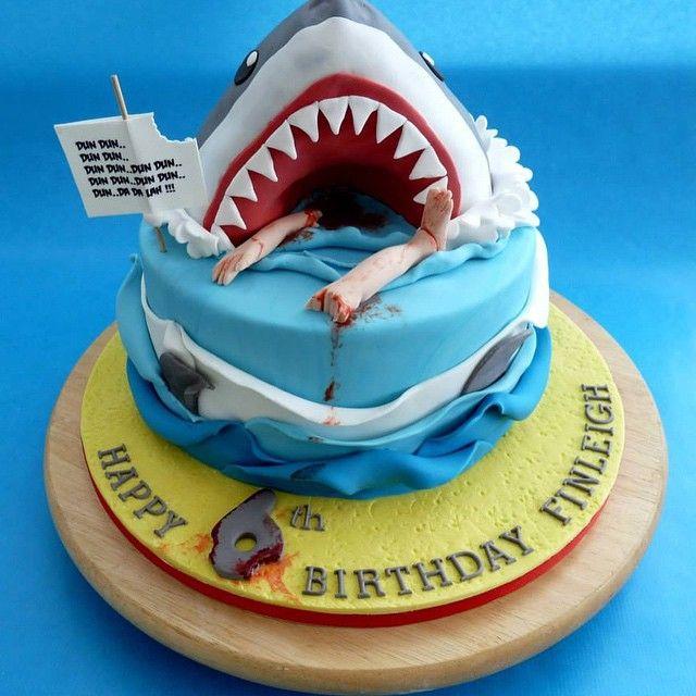 Jaws Cake Sharkcake Jawscake Cakes Cookies And Cupcakes