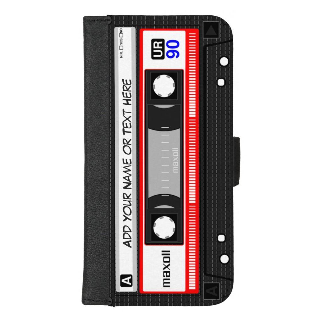 Funny retro music cassette tape iphone 87 plus wallet