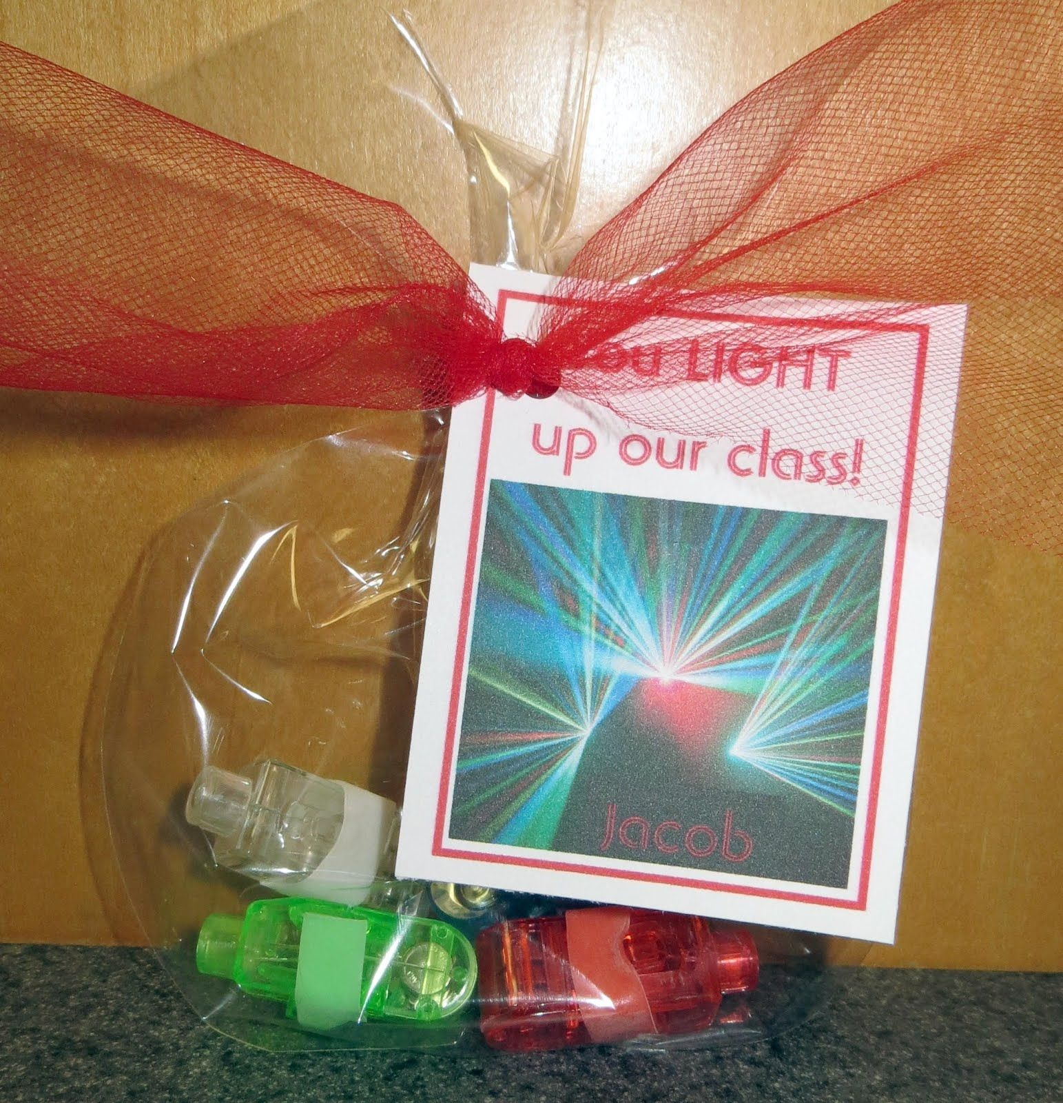 Room Mom Extraordinaire Valentines Gifts For Classmates  Laser Lights