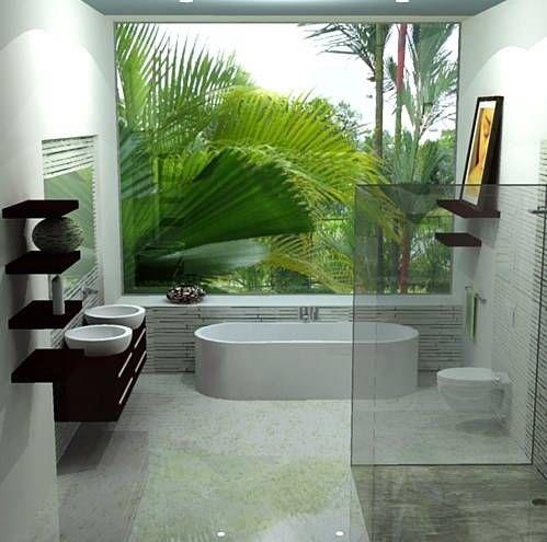 Cuarto de baño estilo minimalista   Sustainable home ...