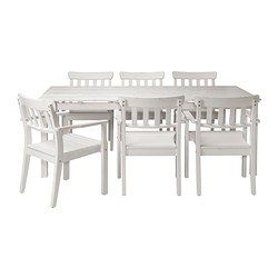 Angso Table 6 Armchairs Outdoor White Stained Ikea Ikea