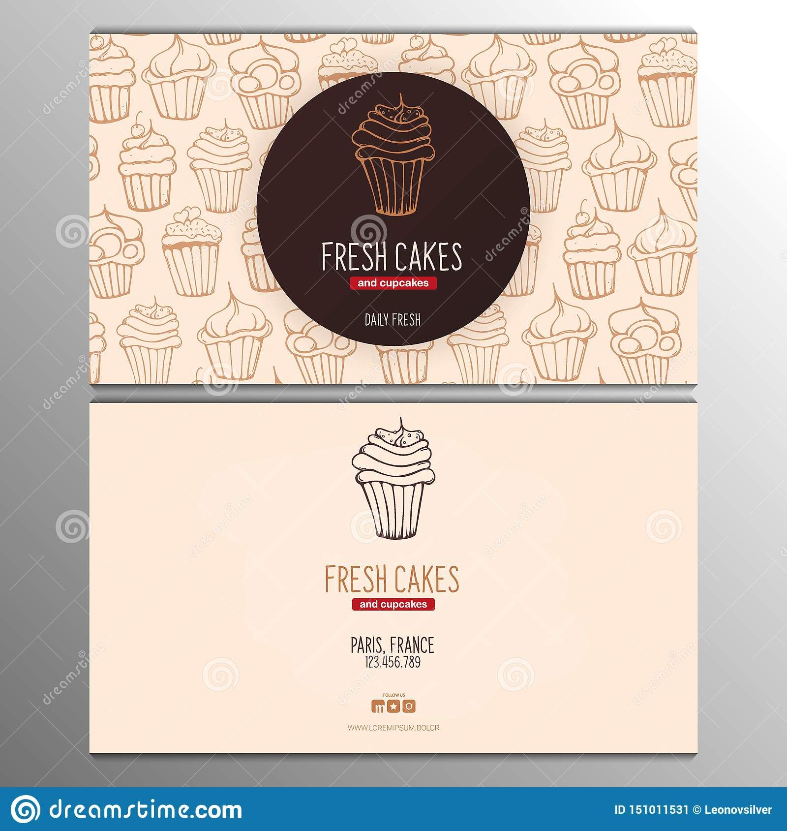 Cupcake Or Cake Business Card Template For Bakery Or Pastry Throughout Cake Business Bakery Business Cards Bakery Business Cards Templates Cake Business Cards