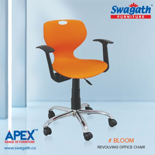 chair revolving steel base with wheels ikea faux leather bloom office makes it extra strong and long lasting sit back relax on the cozy lumbar support designer