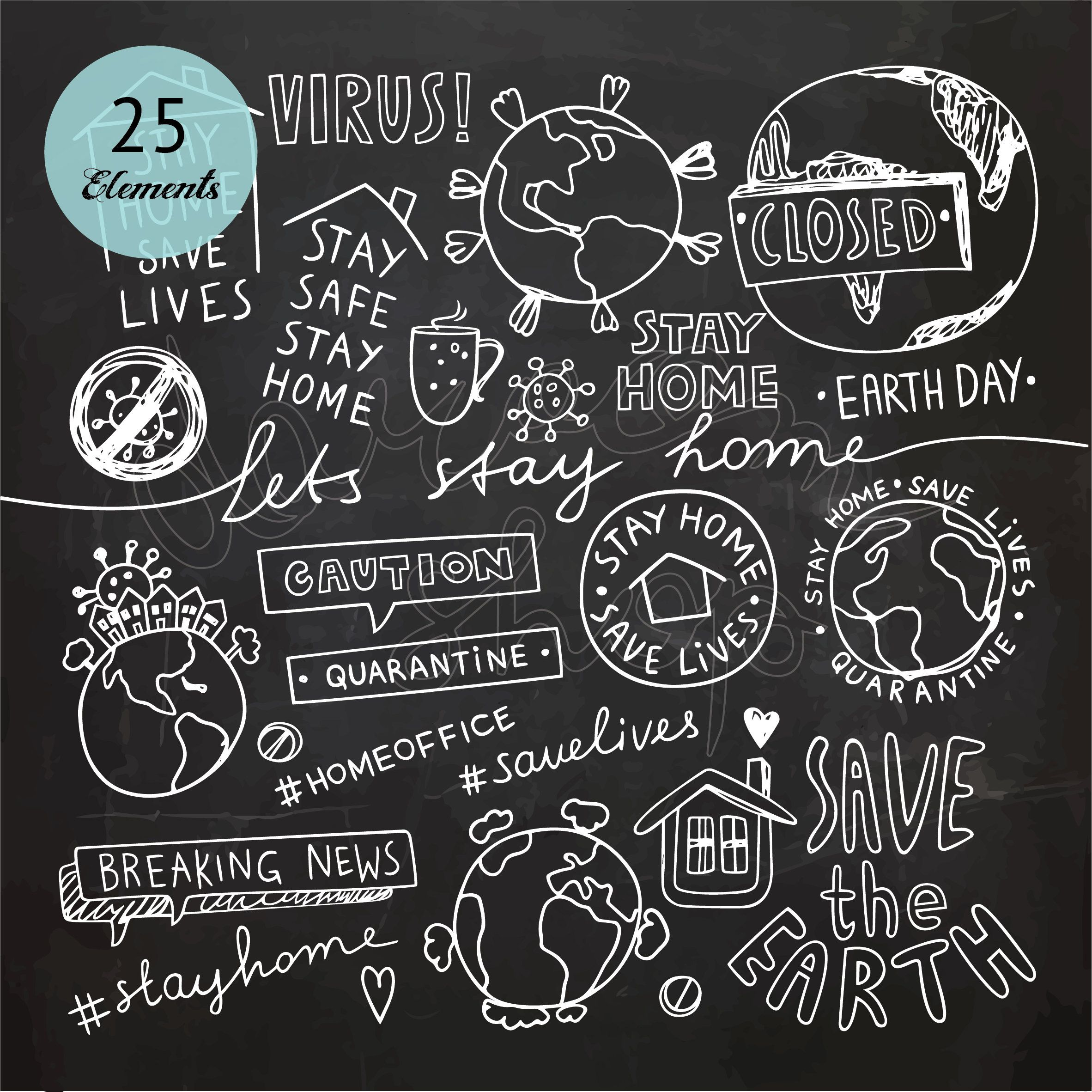 Chalkboard Stay Home Stay Safe Quote Hand Drawn Earth Clip Etsy In 2021 Chalkboard Doodles Herbalife Shake Recipes Doodles